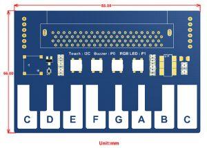 Размеры мини-пианино модуль для микробит