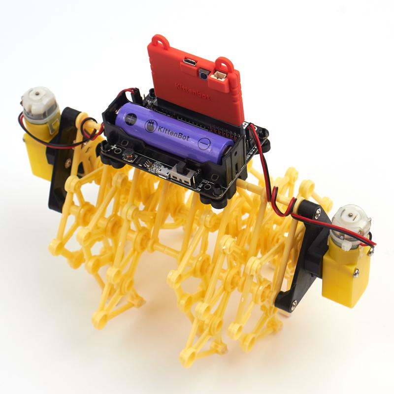 Особенности многоногого зверя робота на microbit