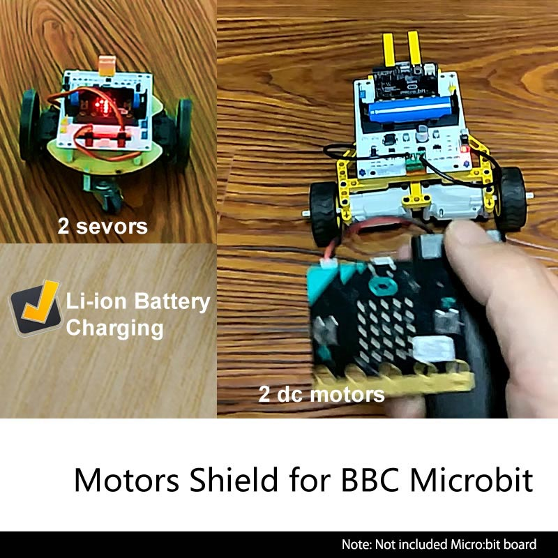 Купитьплату расширения microbit для управления электромоторами