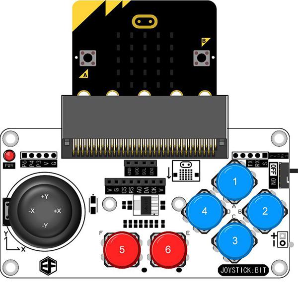 Комплект поставкиJoystick bit модуля расширения и прозрачный корпус для microbit