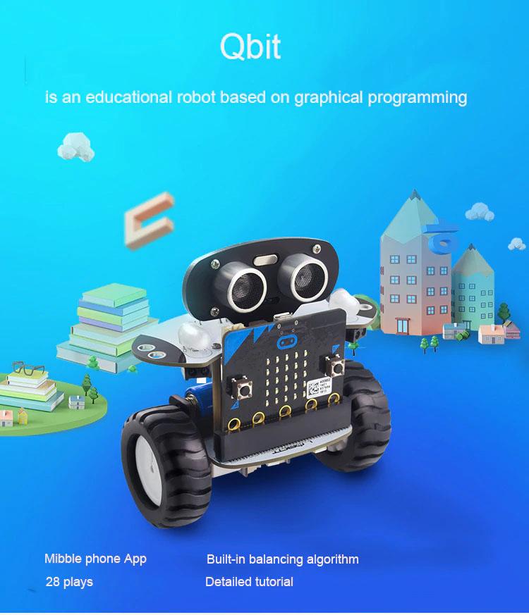 Qbit робот с графическим программированием
