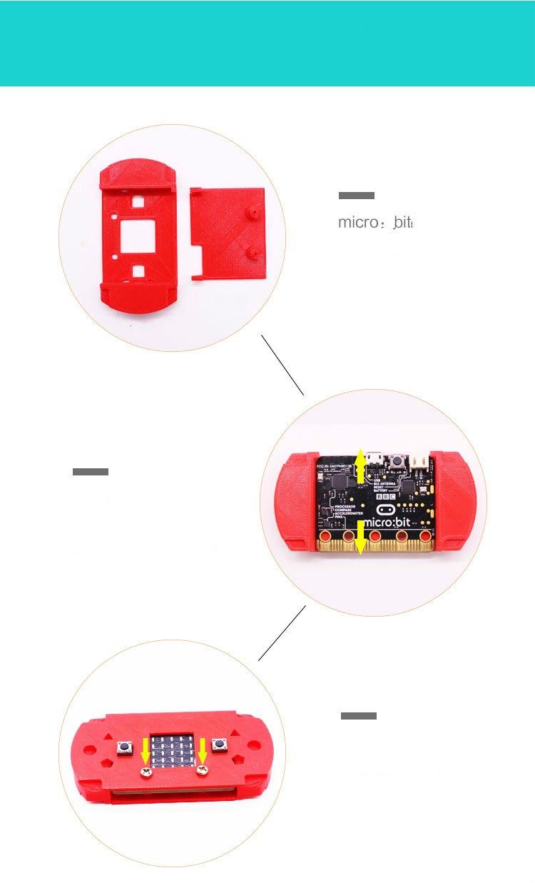 Сборка защитного чехла (корпуса) microbit с держателем батареи